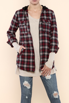 Shoptiques Product: Plaid Jacket With Hood
