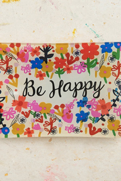 """Shoptiques Product: """"Be Happy"""" Accessory Dish"""