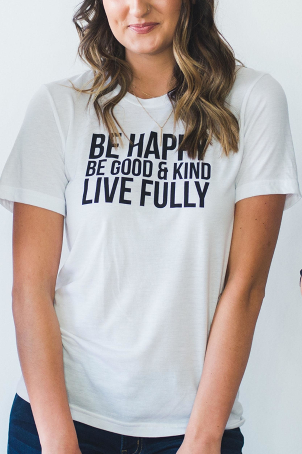 J.Ella Be Happy Tee - Main Image