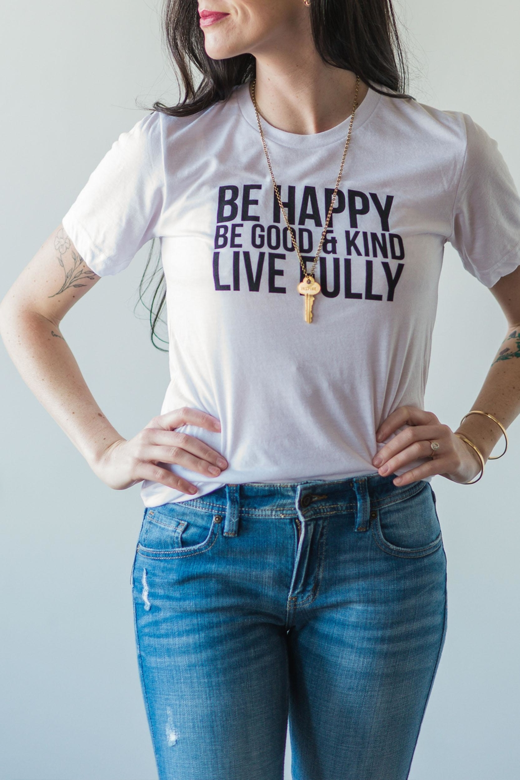 J.Ella Be Happy Tee - Front Full Image
