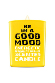 be in a good mood BE IN A GOOD MOOD Energetic Bergamot Orange Scented Candle - Front cropped