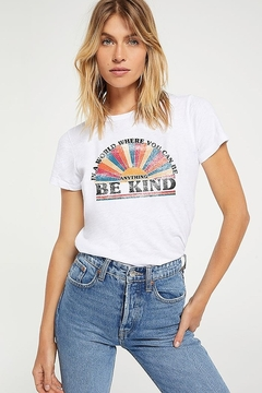 Z Supply  Be Kind Multi Color Slub Tee - Alternate List Image