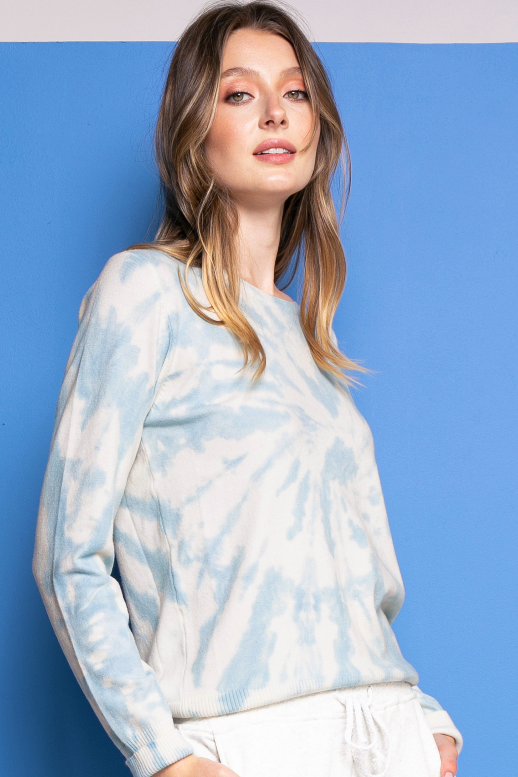 Pink Martini Be Kind Tie Dye Sweater - Main Image
