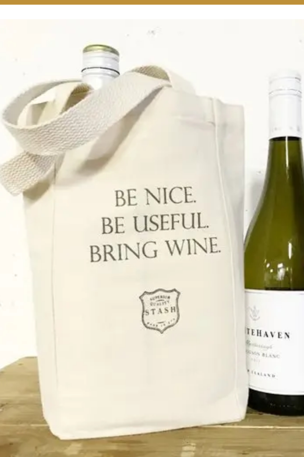 Faire Be Nice - Wine Tote - Main Image