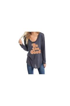 Back in Love Be the Good Long Sleeve Charcoal t-shirt tunic - Alternate List Image
