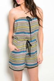 Be.YOU.tiful Multicolor Romper - Front cropped