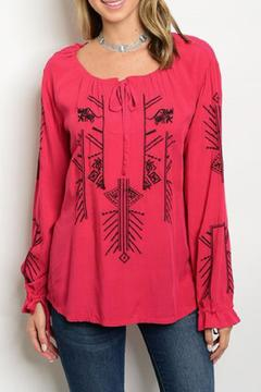 Shoptiques Product: Red Embroidered Top