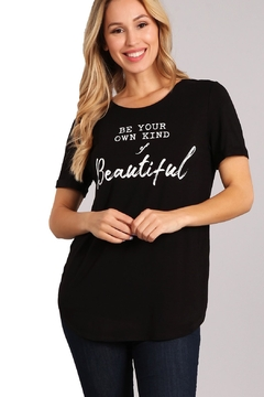 Back in Love Be Your Own Kind of Beautiful Black Tee - Alternate List Image
