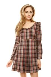 Shoptiques Product: Criss-Cross Plaid Dress