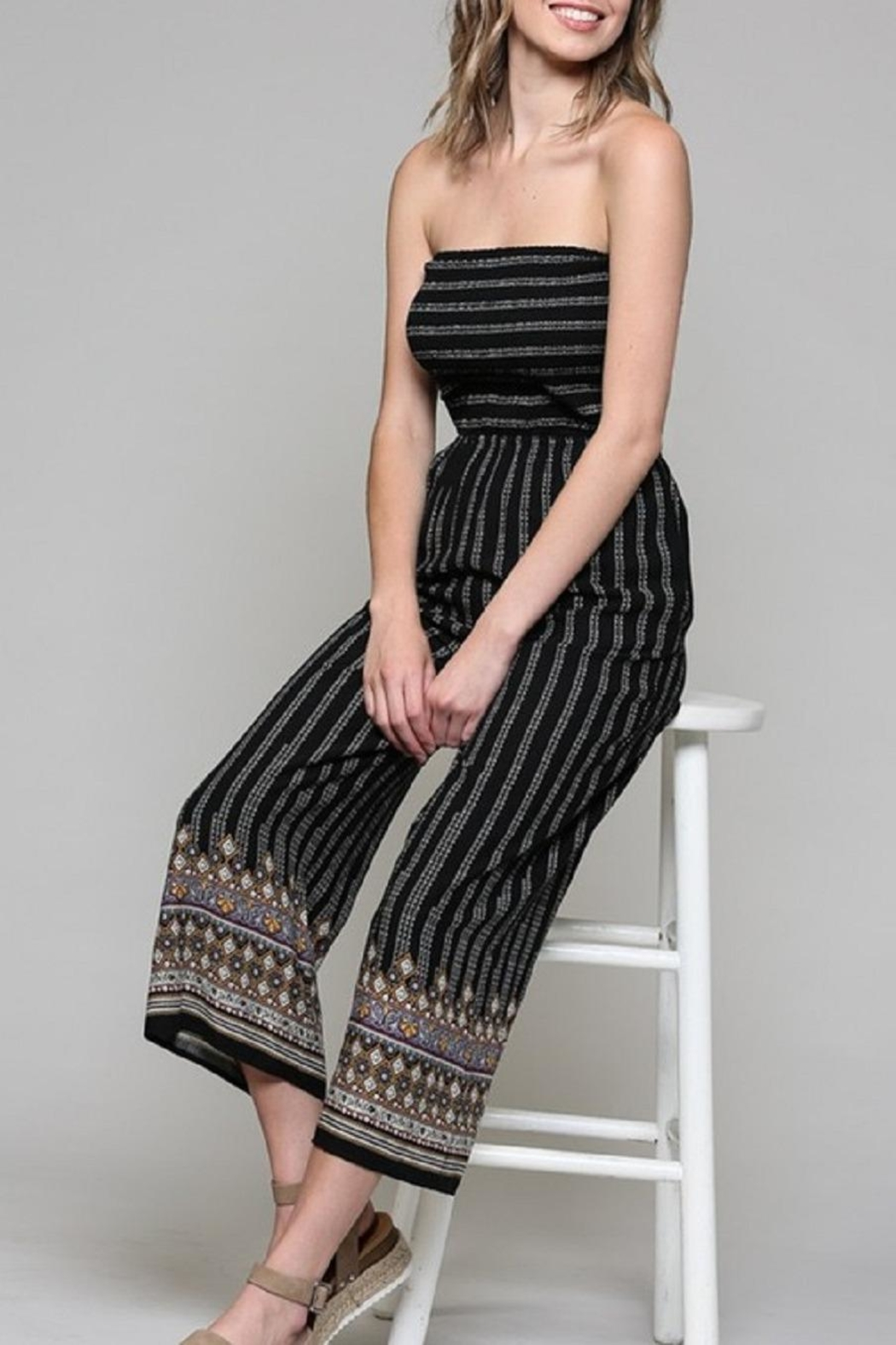 Be Cool Alice Tie-Back Jumpsuit - Side Cropped Image