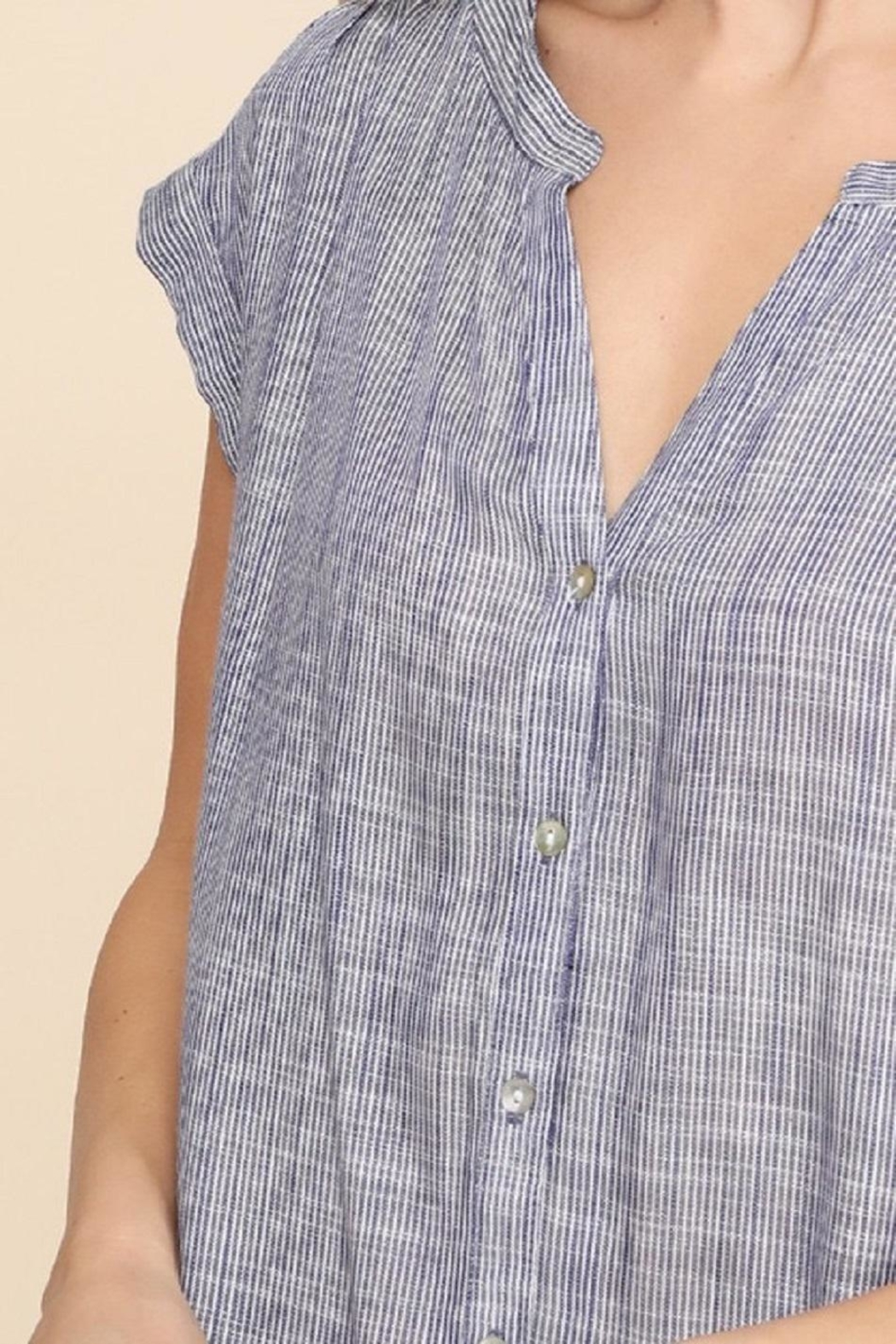 Be Cool Betina Button-Down Top - Side Cropped Image
