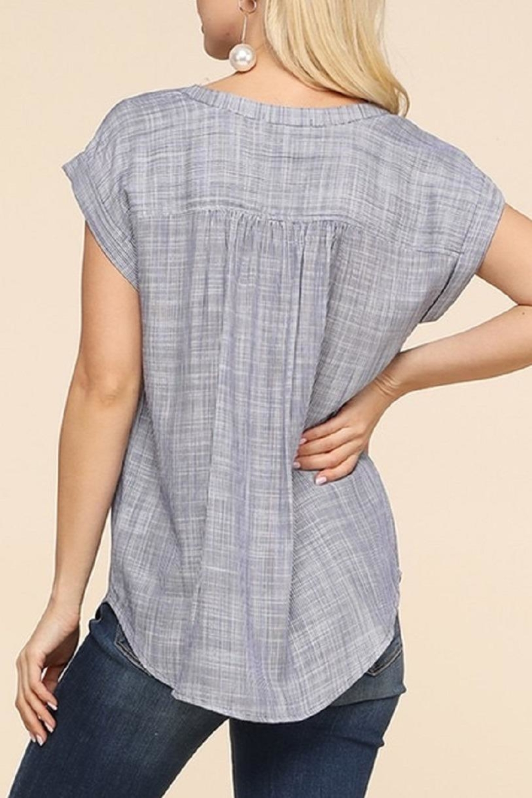 Be Cool Betina Button-Down Top - Back Cropped Image