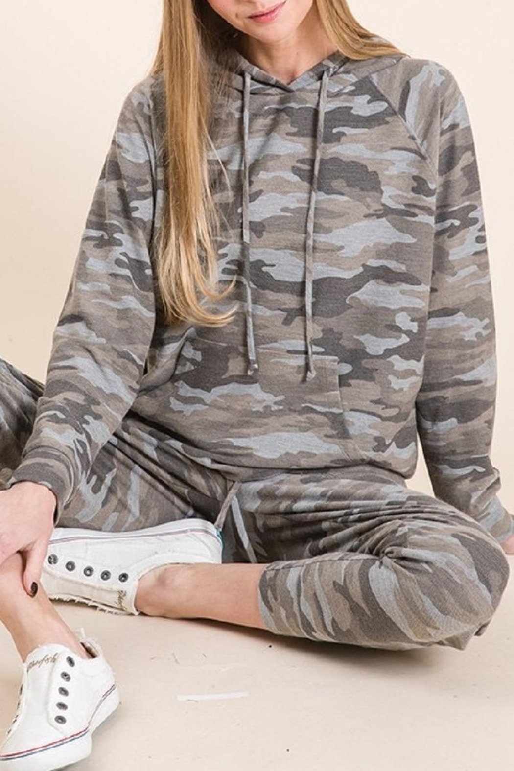 Be Cool Camo Soft Hoodie - Front Full Image