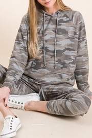Be Cool Camo Soft Hoodie - Front full body