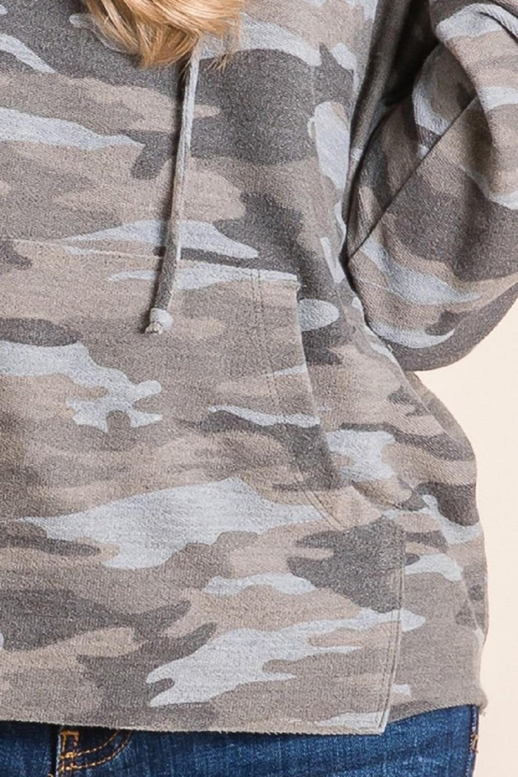 Be Cool Camo Soft Hoodie - Back Cropped Image