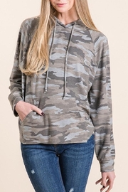 Be Cool Camo Soft Hoodie - Front cropped
