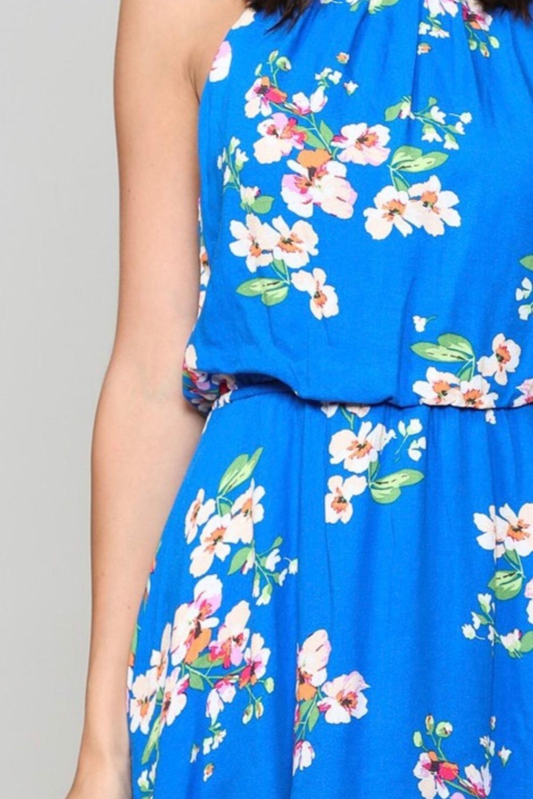 Be Cool Floral Print Dress - Front Full Image