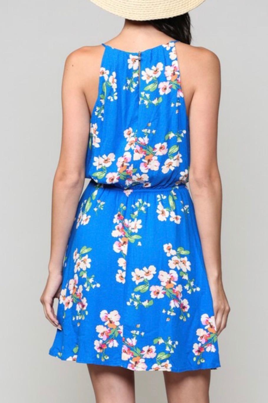 Be Cool Floral Print Dress - Side Cropped Image