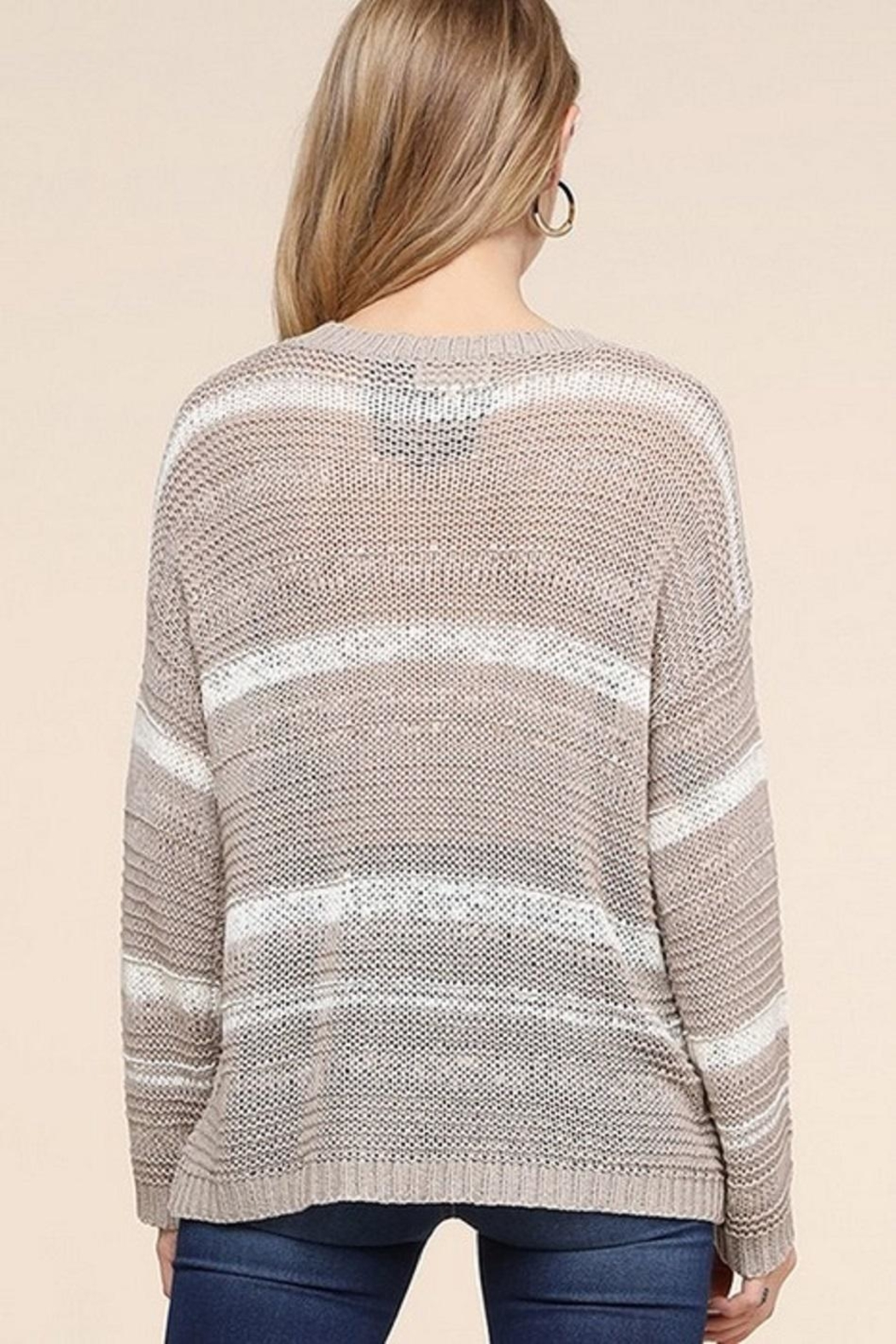 Be Cool Jenny Lightweight Sweater - Back Cropped Image