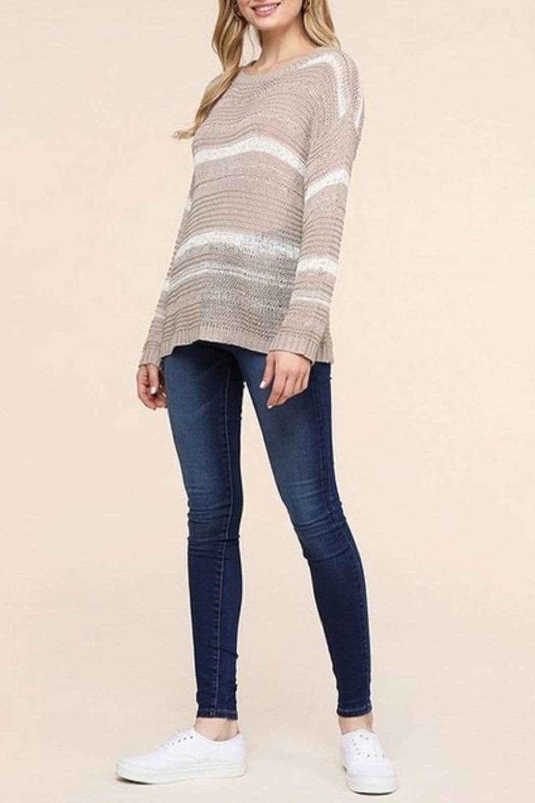 Be Cool Jenny Lightweight Sweater - Side Cropped Image