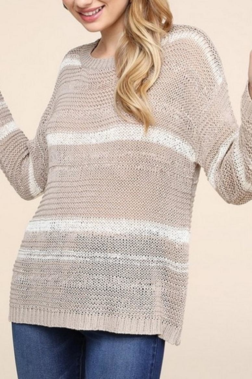 Be Cool Jenny Lightweight Sweater - Front Full Image