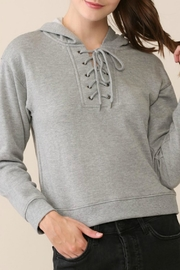 Be Cool Lace-Up French-Terry Hoodie - Product Mini Image