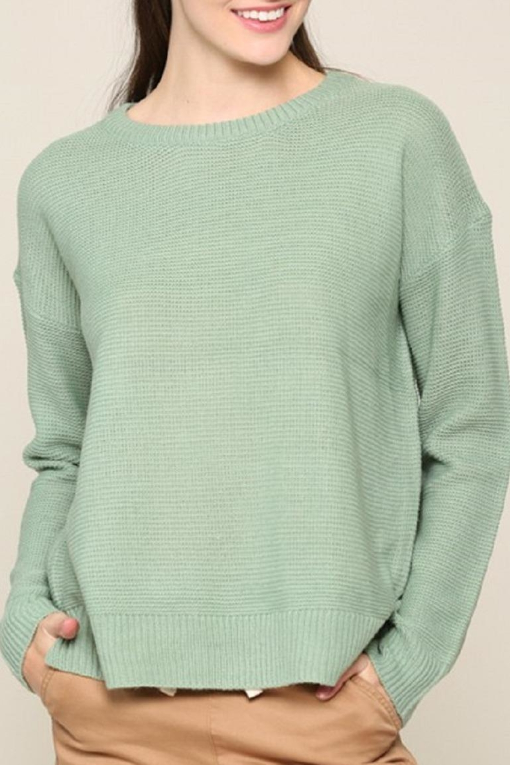 Be Cool Mint Boyfriend-Fit Sweater - Main Image