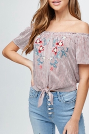 Be Cool Off-Shoulder Embroidery Top - Product Mini Image