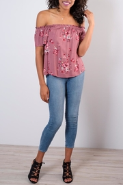 Be Cool Off-Shoulder Floral Top - Product Mini Image