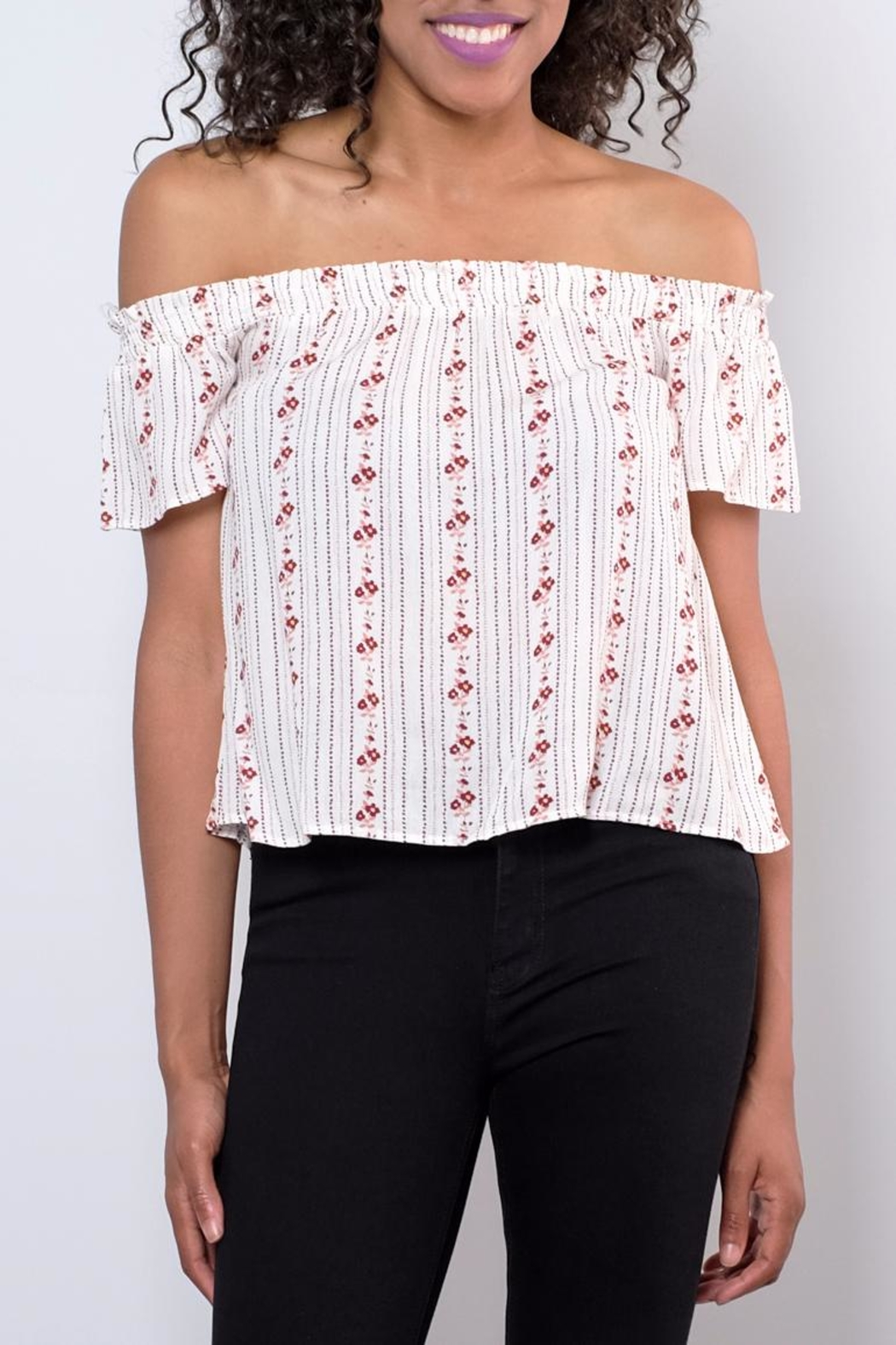 Be Cool Off-Shoulder Floral Top - Main Image