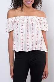 Be Cool Off-Shoulder Floral Top - Front full body