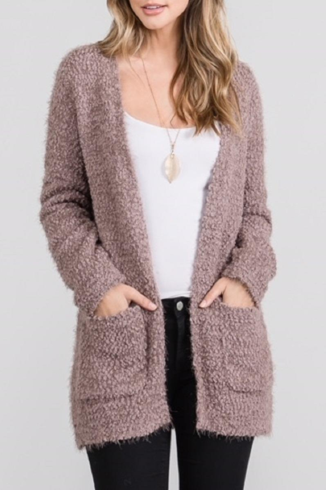 Be Cool Open Fuzzy Cardigan - Main Image