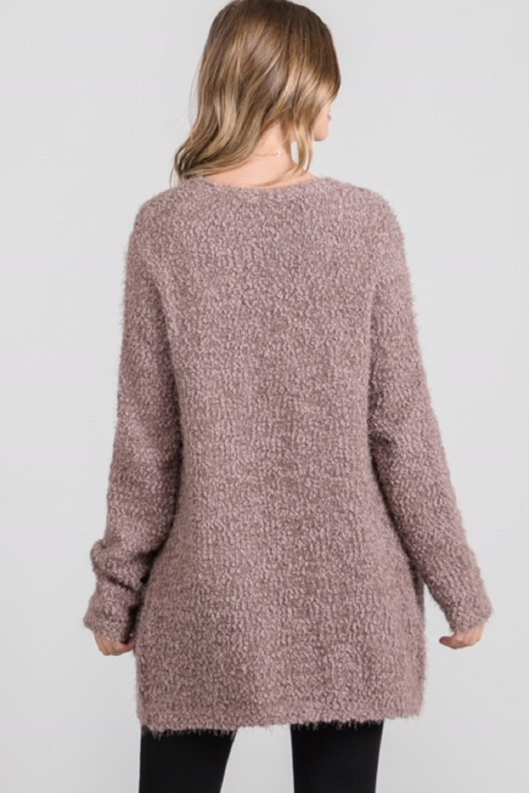 Be Cool Open Fuzzy Cardigan - Side Cropped Image