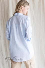 Be Cool Oversized Pinstripe Shirt - Back cropped