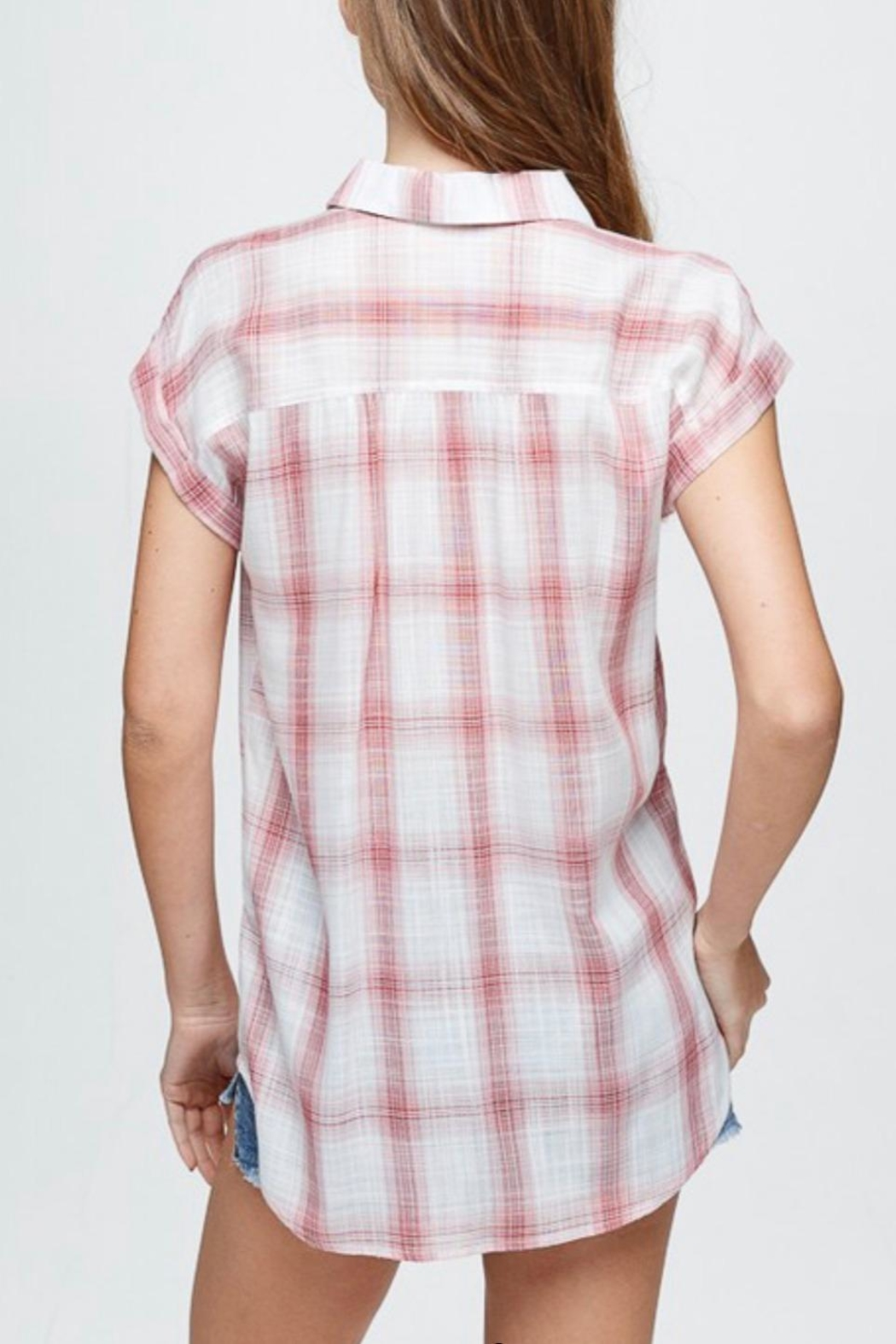 Be Cool Plaid Button-Down Shirt - Side Cropped Image