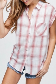 Be Cool Plaid Button-Down Shirt - Front cropped