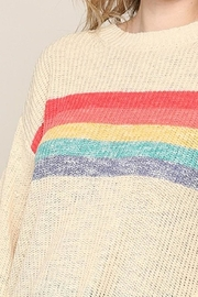 Be Cool Rainbow Lightweight Sweater - Side cropped