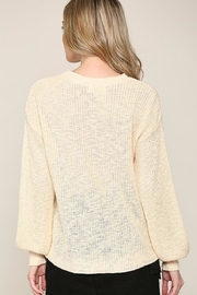 Be Cool Rainbow Lightweight Sweater - Back cropped