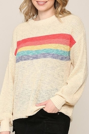 Be Cool Rainbow Lightweight Sweater - Product Mini Image