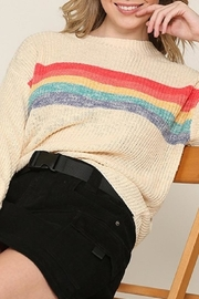 Be Cool Rainbow Lightweight Sweater - Front full body