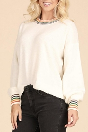 Be Cool Rainbow Sweater - Front cropped