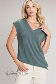 Be Cool Spruce Sweater Vest - Product Mini Image