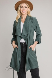 Be Cool Suede Trench Jacket - Product Mini Image