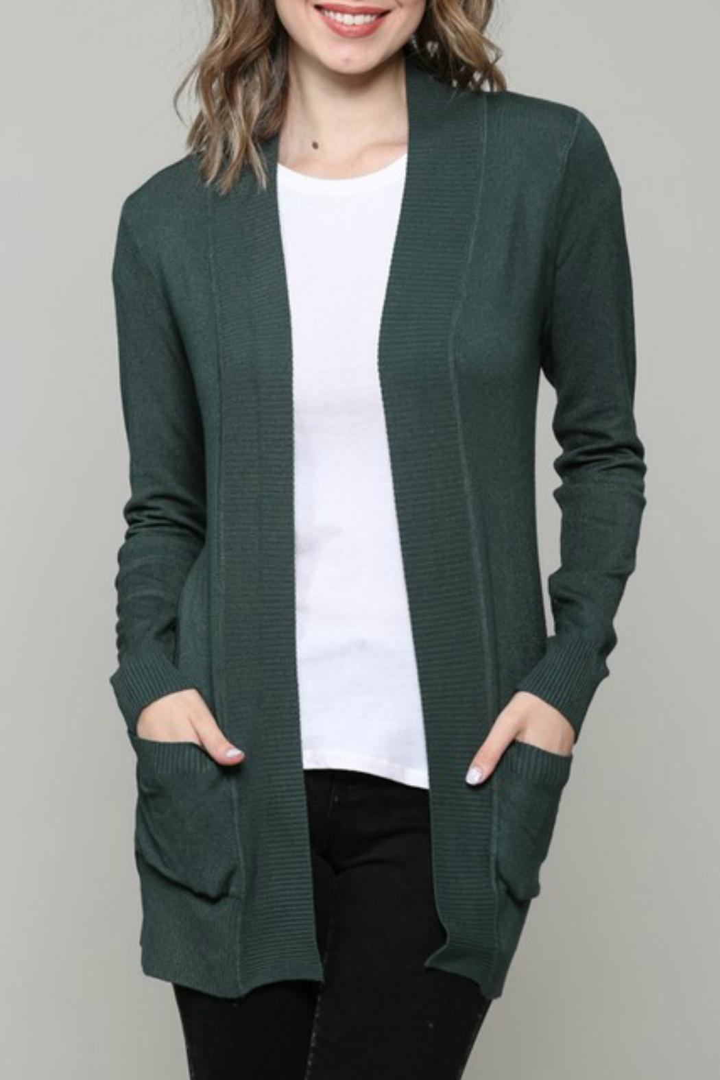 ALB Anchorage Super-Cozy Open Cardigan - Front Cropped Image