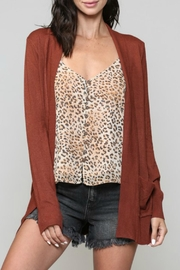 ALB Anchorage Super-Cozy Open Cardigan - Front cropped