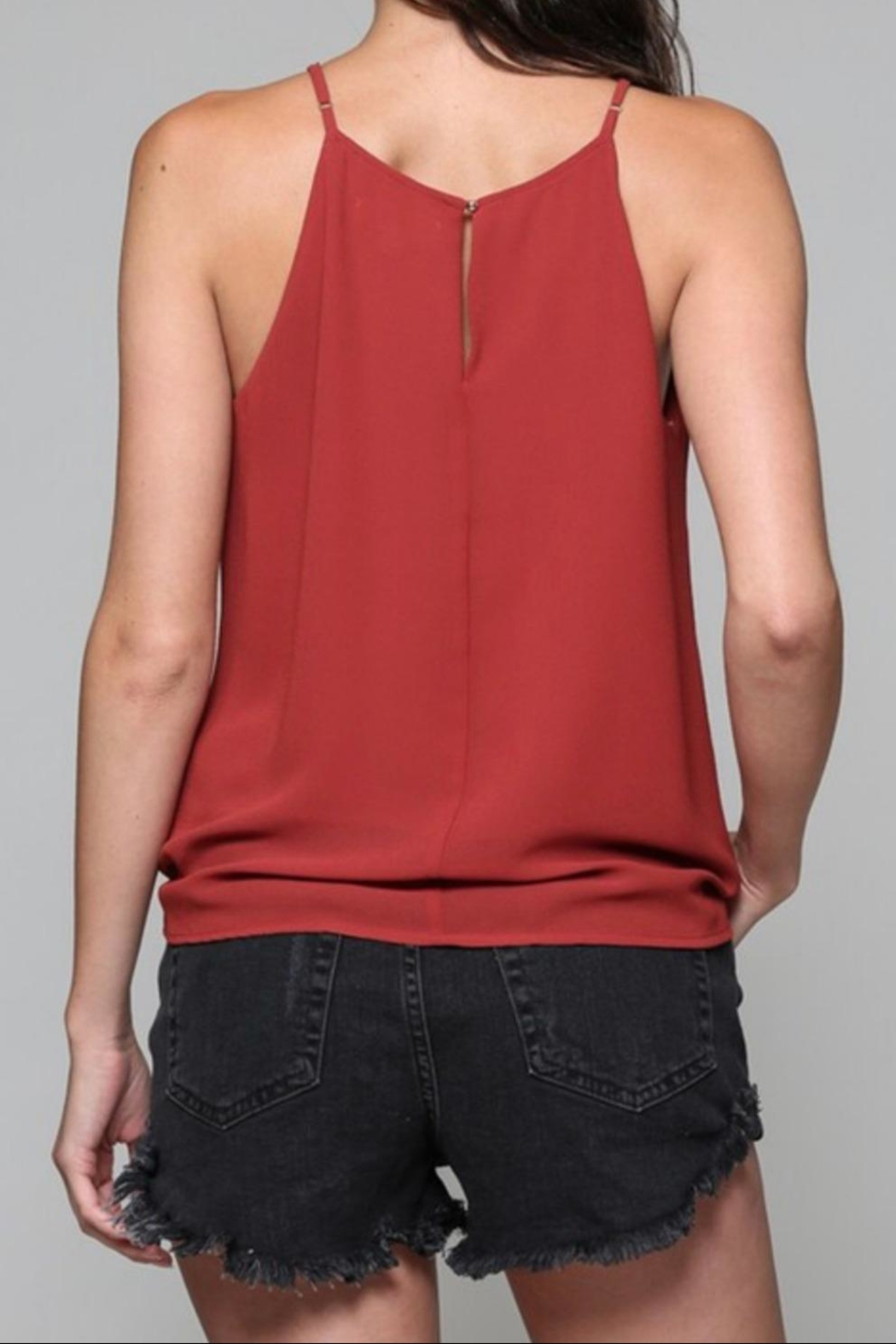 Be Cool Tie Front Tank - Front Full Image