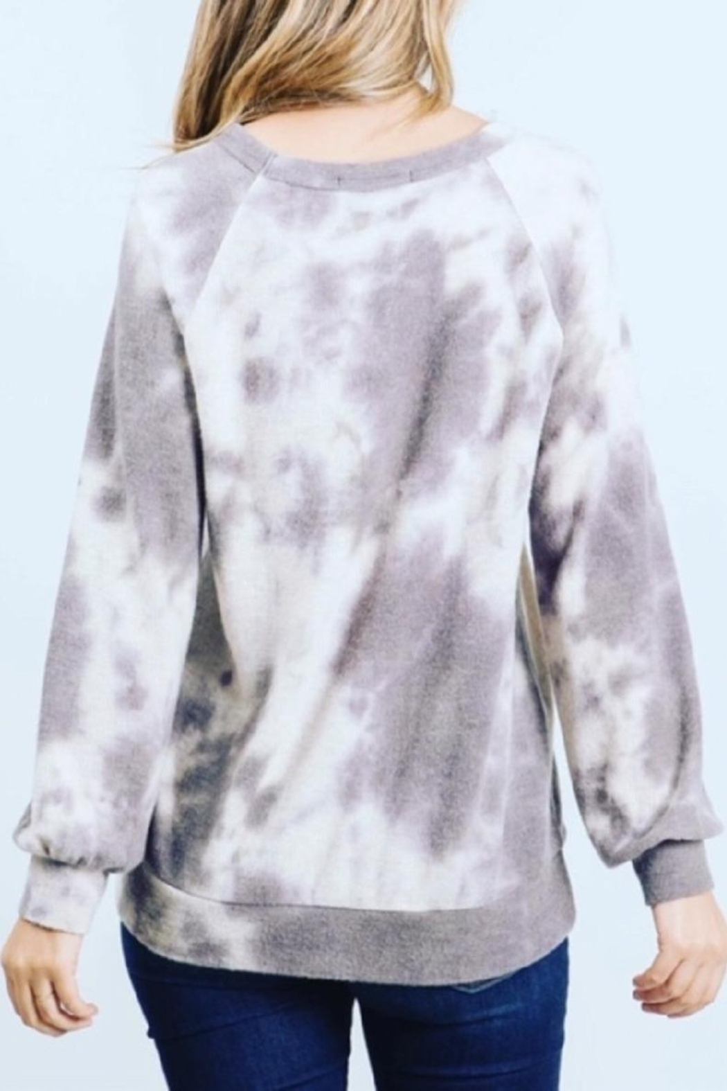 Be Cool Ultra-Soft Tie-Dye Sweater - Side Cropped Image