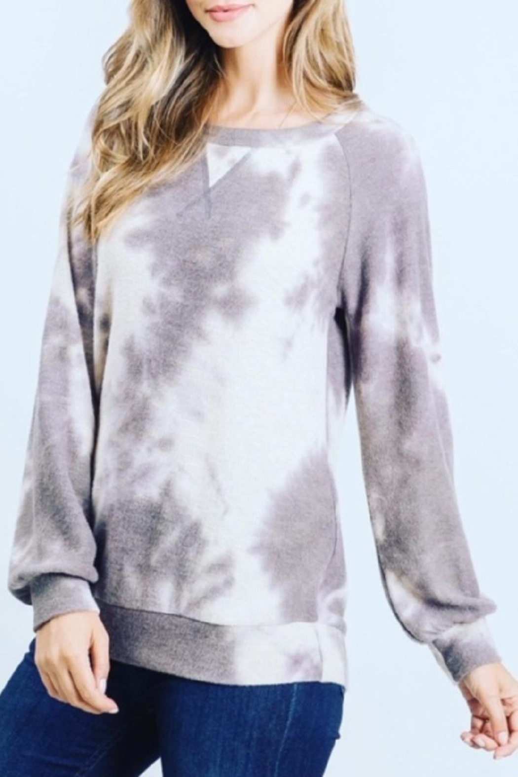 Be Cool Ultra-Soft Tie-Dye Sweater - Front Full Image