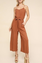Be Cool Wide-Leg Button-Down Jumpsuit - Product Mini Image