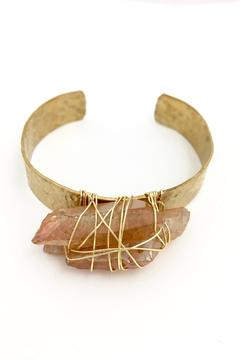 Shoptiques Product: Hammered Quartz Cuff